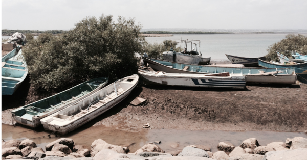 Boats on the shore in Djibouti